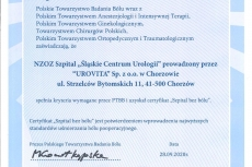 Urovita-Certyfikat-Szpital-Bez-Bolu