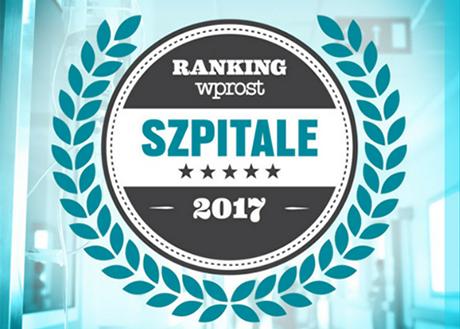 Pierwsze miejsce w ogólnopolskim rankingu szpitali