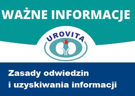 Zasady odwiedzin oraz uzyskiwania informacji na temat stanu zdrowia Pacjentów