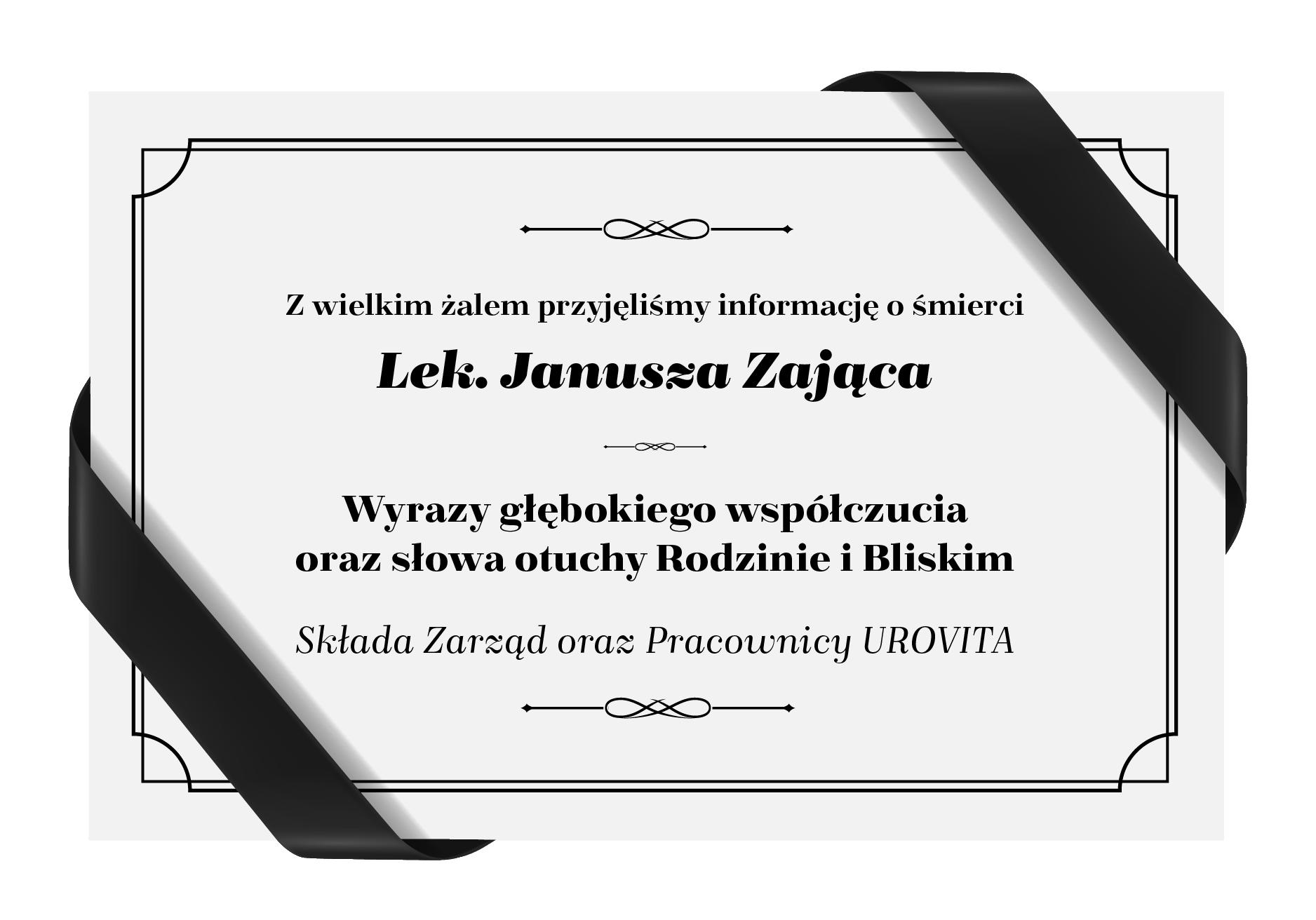 Pożegnanie Lek. Janusza Zająca
